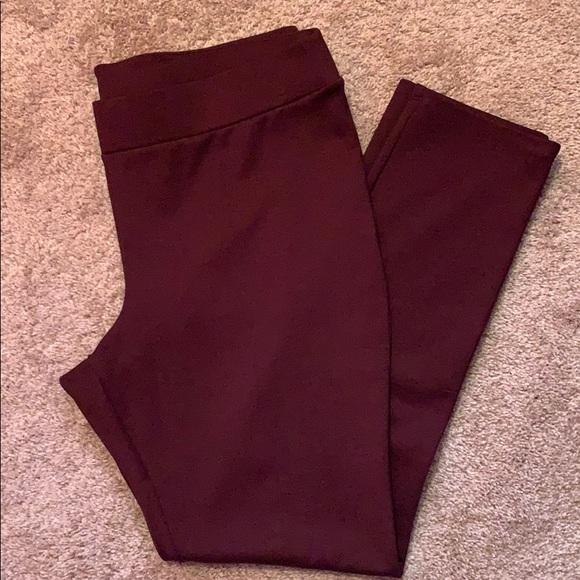 White House Black Market Pants - WHBM maroon leggings